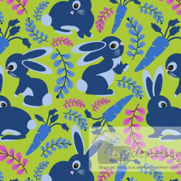 Seamless Surface Patterns With Blue Bunnies!