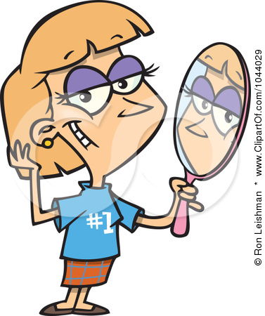 1044029-royalty-free-rf-clip-art-illustration-of-a-cartoon-woman-staring-vainly-in-a-mirror