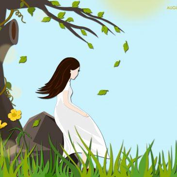 """Girl under the tree"" – Making of the August 2016 Desktop Calendar Wallpaper!"