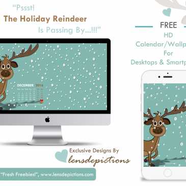 A reindeer passing by in snow – Wallpaper For December 2016!