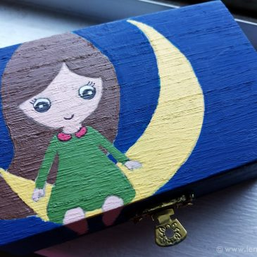 The Girl on the Moon – Beautifying a Wooden box