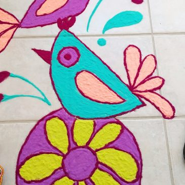 Folk Birds Rangoli