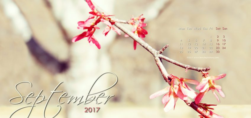 September 2017 Free Desktop Calendar wallpaper