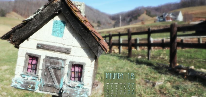 Jan 2018 Free Desktop Calendar Wallpaper