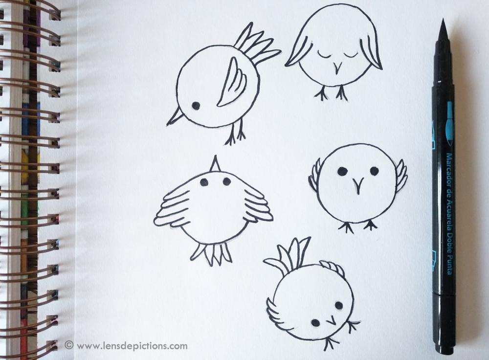Bird-doodles