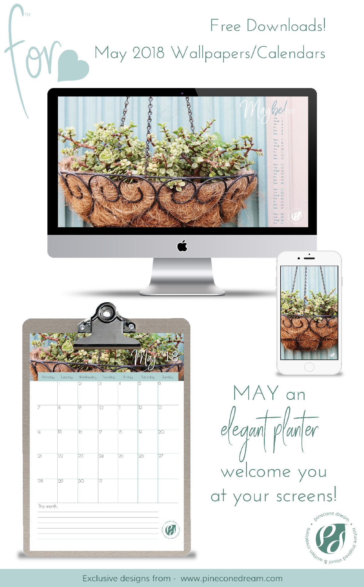Wallpapers&Calendars_Bundle_Pineconedream