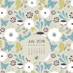 July 2018 desktop wallpaper calendar