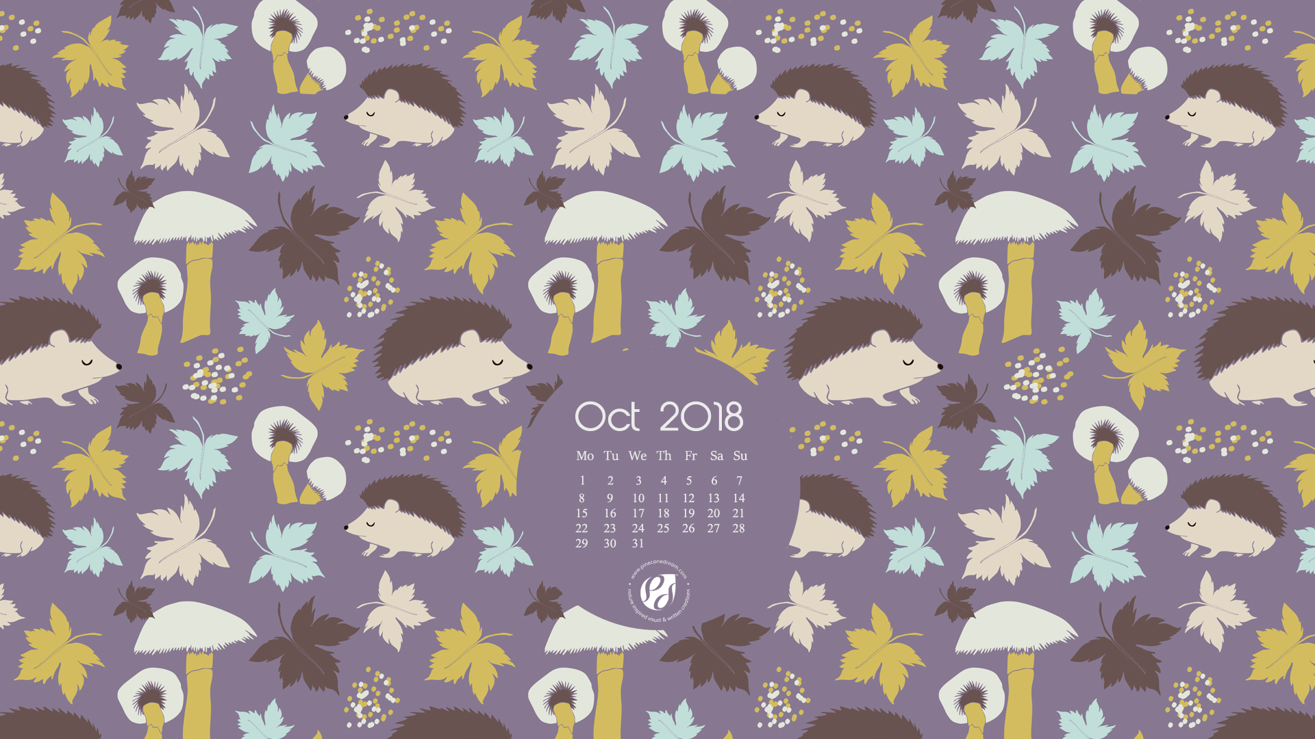 image relating to Printable Wallpaper titled Oct 2018 Totally free Wallpapers/Calendars Printable Planner