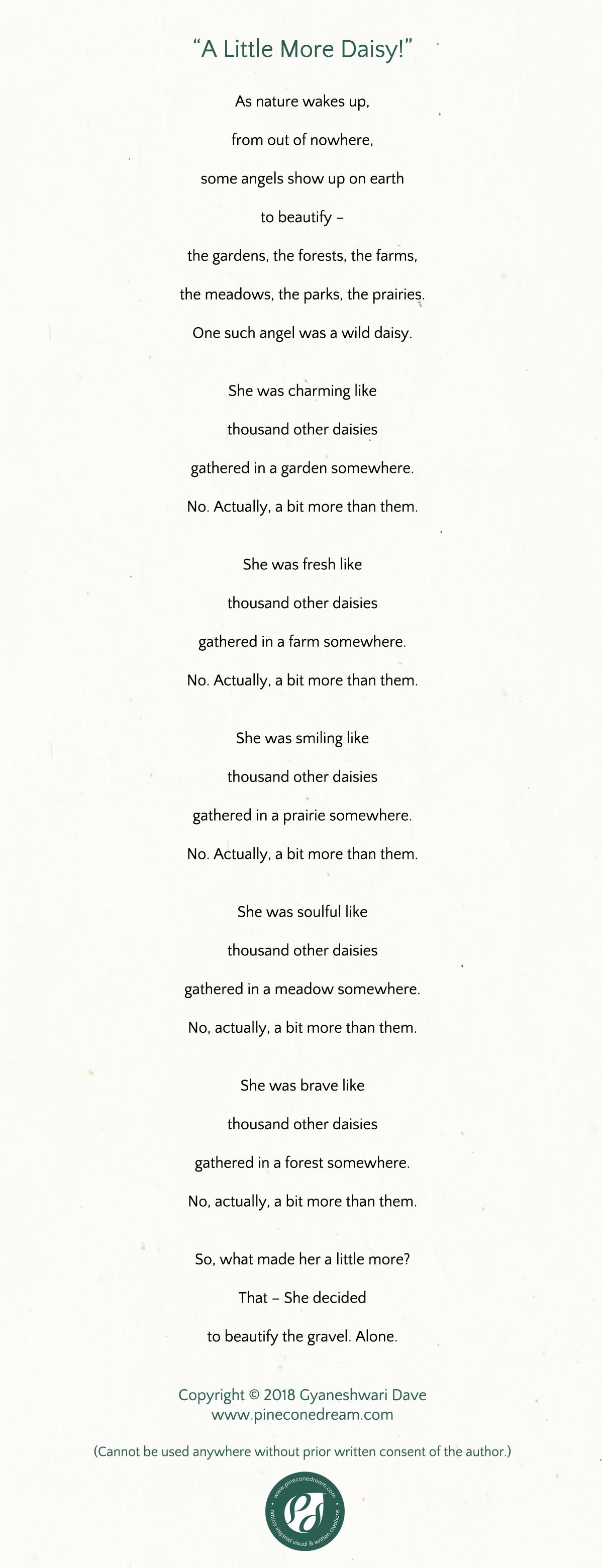 GyaneshwariDave_Poetry_ALittleMoreDaisy