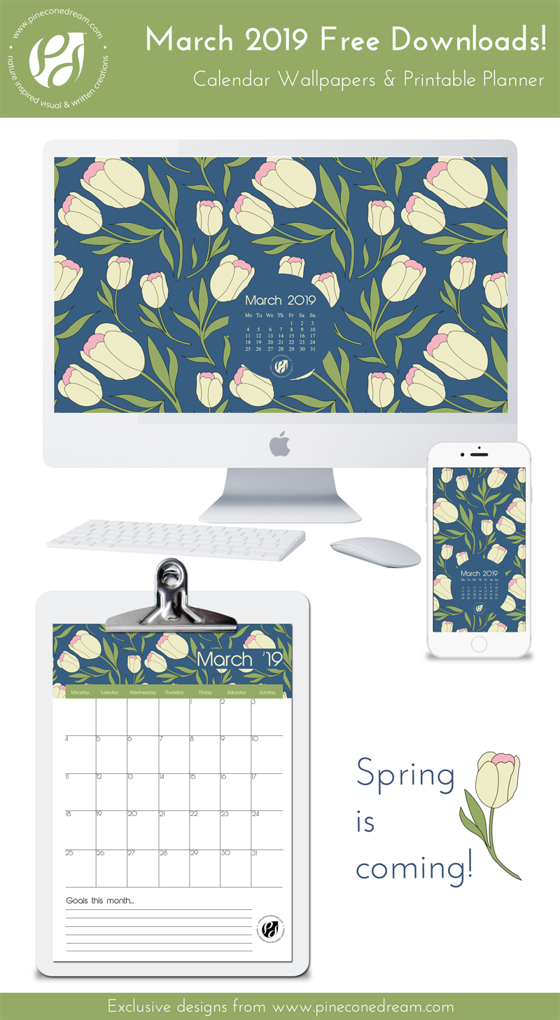March 2019 free calendar wallpapers