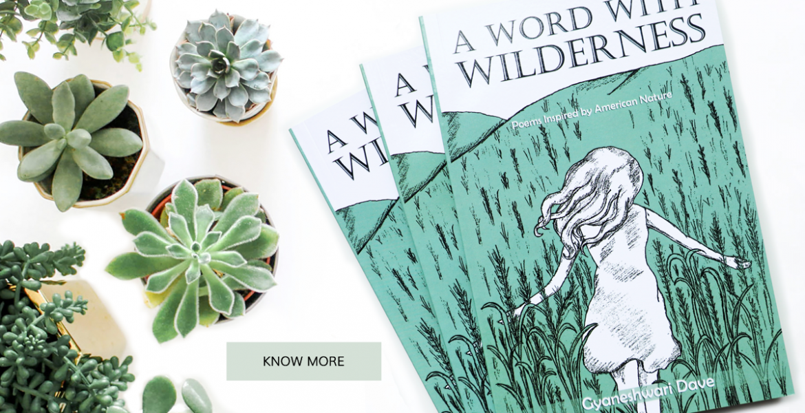 Poetry book about nature, illustrated