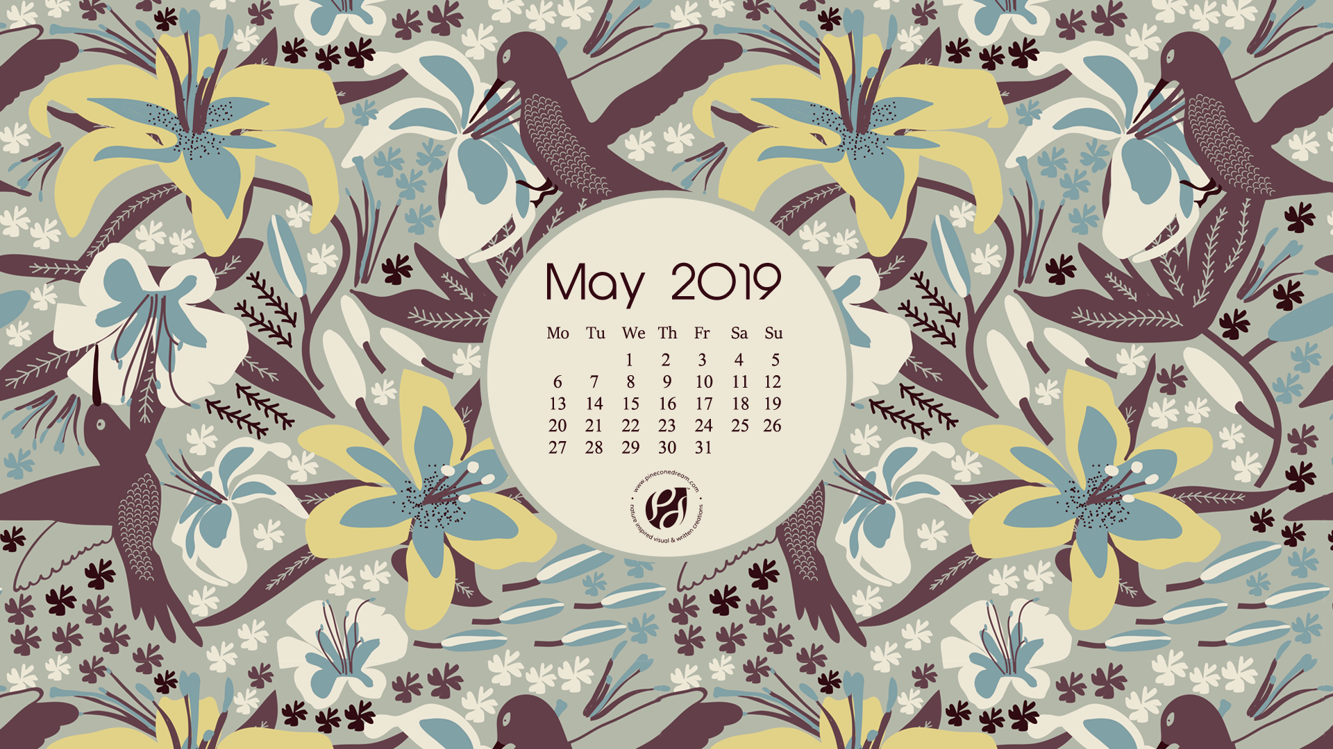 image relating to Printable Wallpapers named Could 2019 no cost calendar wallpapers printable planner
