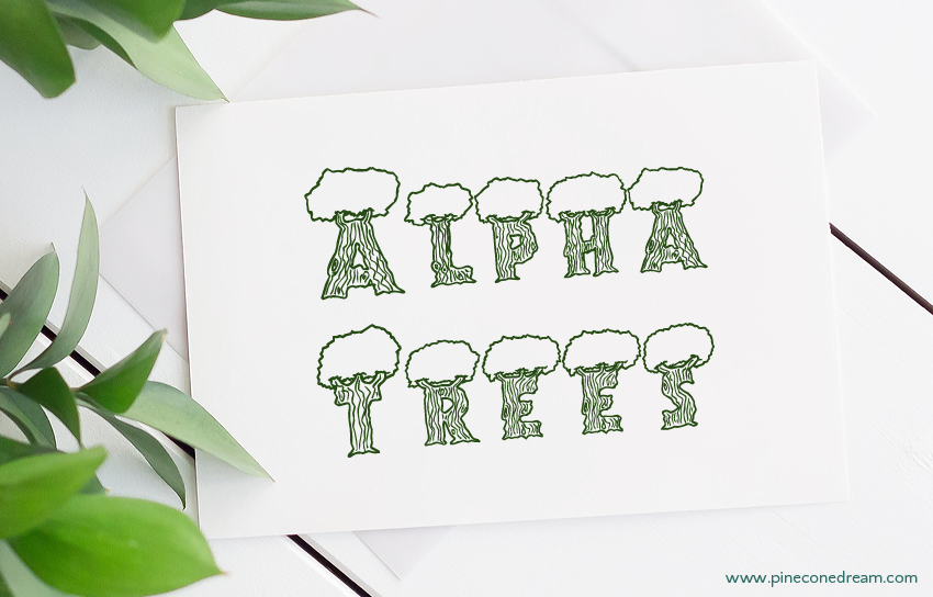 Alpha trees fonts free