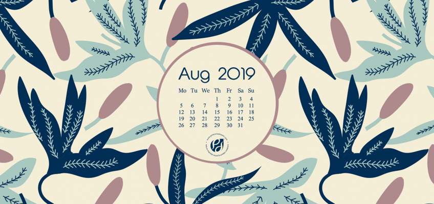 Aug 2019 calendar wallpaper desktop