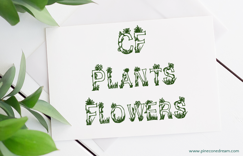 CF plants and flowers fonts