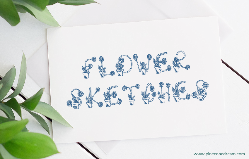 Flower Sketches fonts