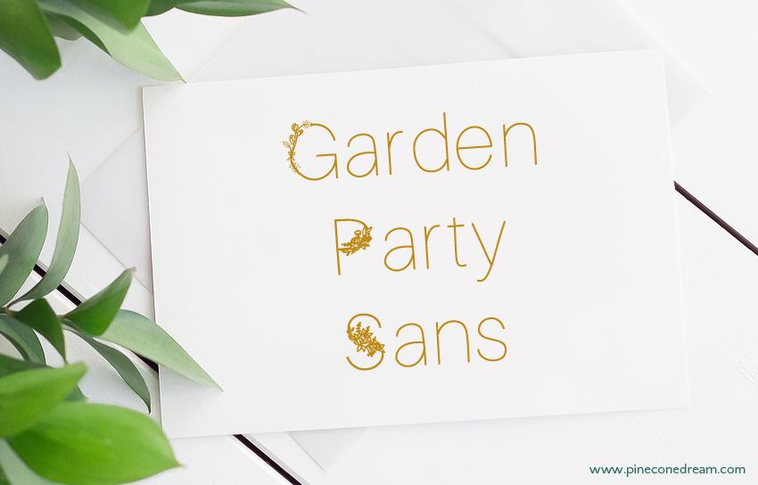 Garden Party Sans fonts