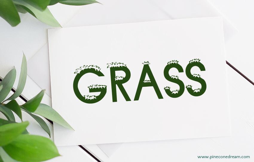 Grass fonts