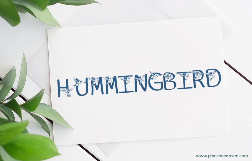 Hummingbird fonts
