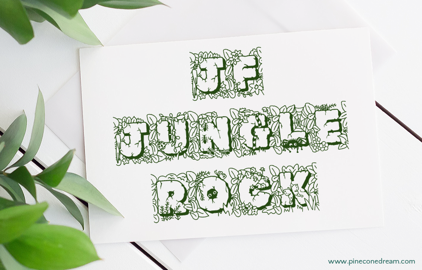 JF Jungle Rock nature inspired fonts