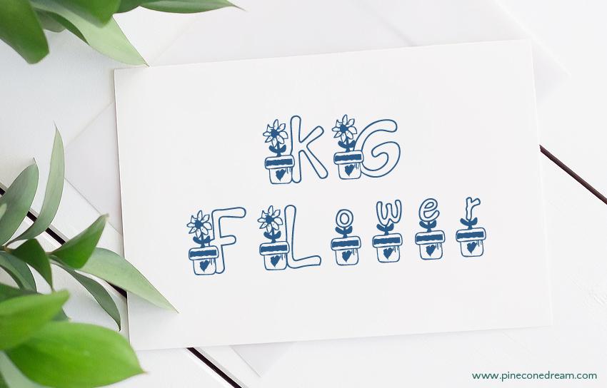 KG Flower fonts