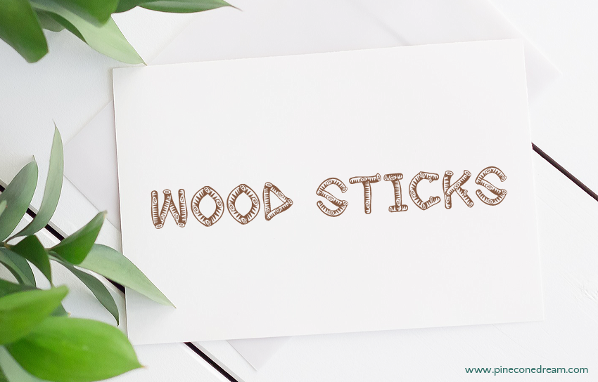 Wood sticks fonts
