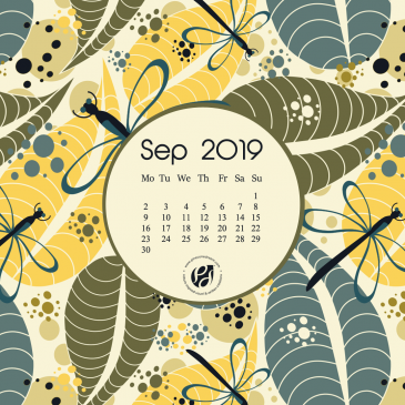 September 2019 free calendar wallpapers & printable planner, illustrated – Fall is on its way!
