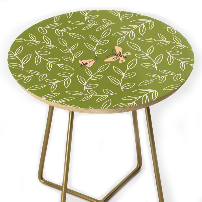Moths & Leaves Side Table