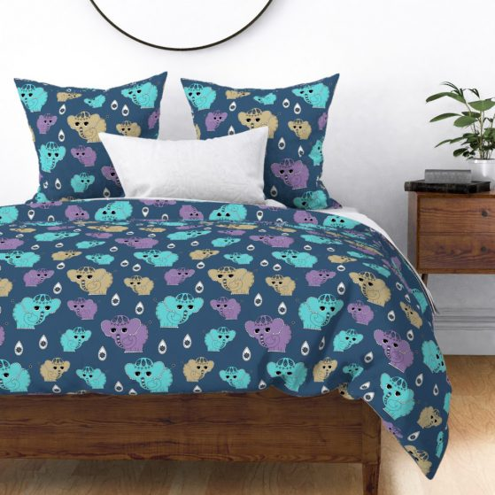 Sweet Elephants Kids Bedding