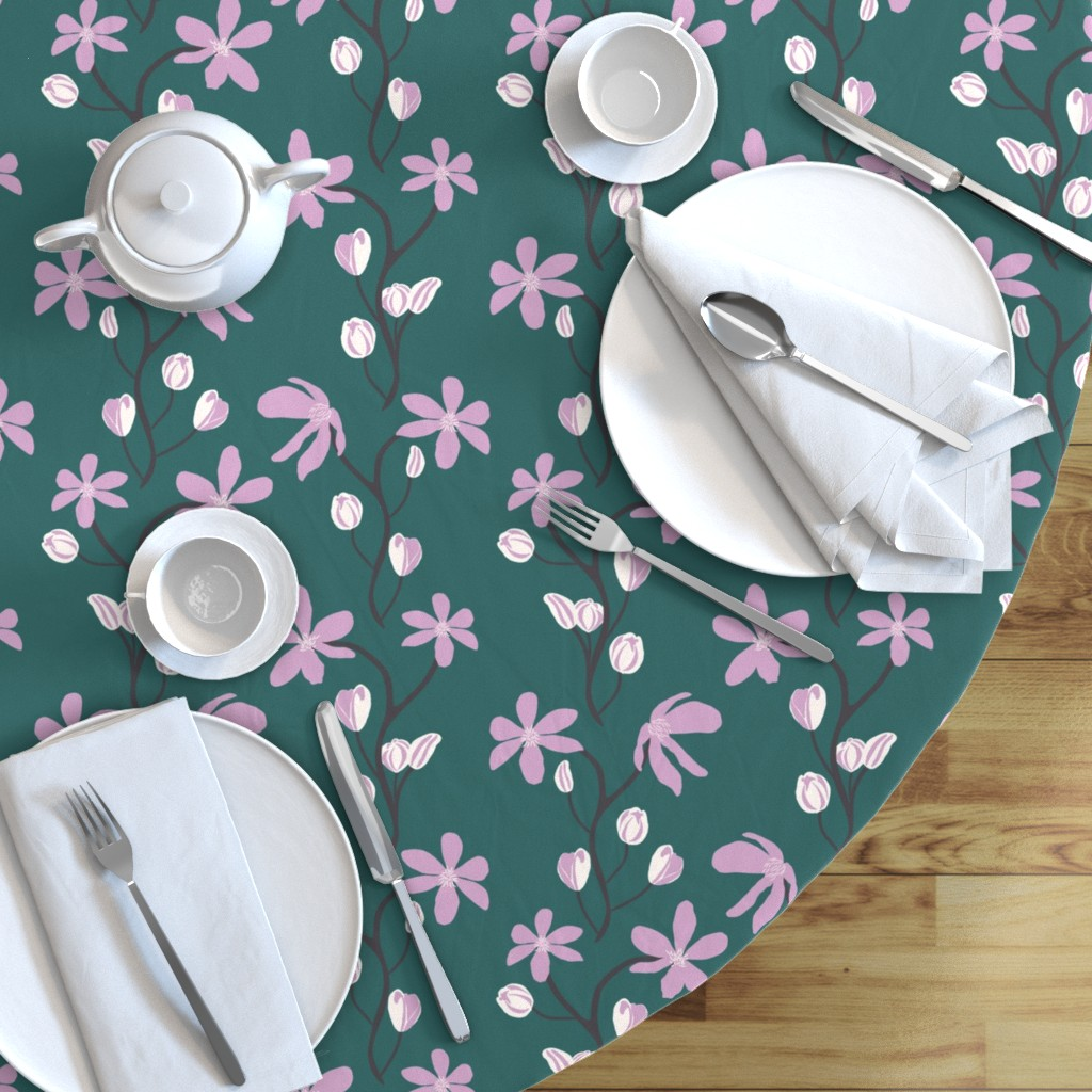 Blooming Vines Dining Table Cloth