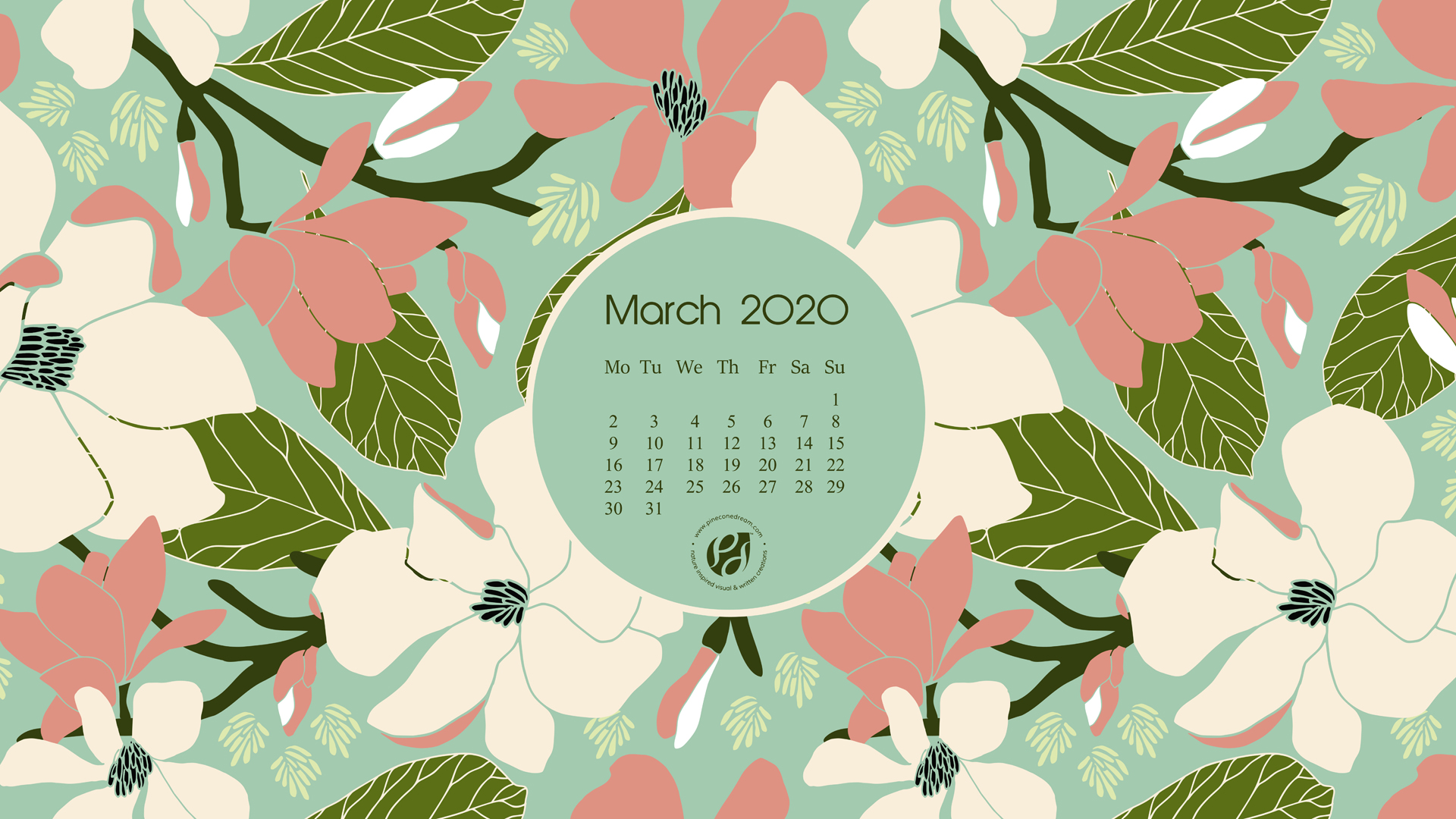 March 2020 free calendar wallpapers & printable planner ...