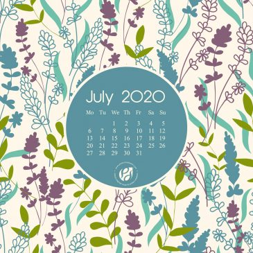 July 2020 free calendar wallpapers & printable planner, illustrated – The Calm In Chaos