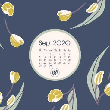 Sep 2020 free calendar wallpapers & printable planner, illustrated – Summer's Last Blooms!