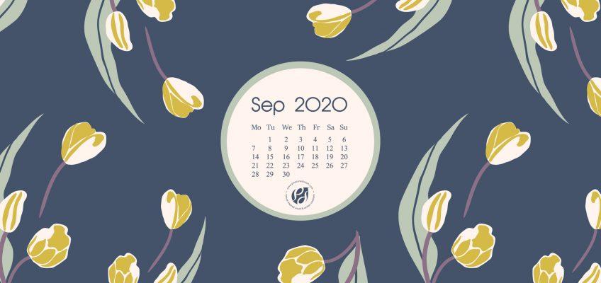 September 2020 Desktop calendar Wallpaper
