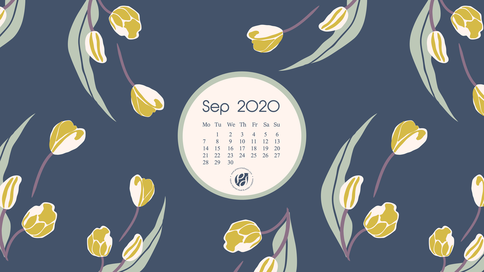 Sep 2020 Free Calendar Wallpapers Printable Planner Illustrated Summer S Last Blooms Pineconedream By Gyaneshwari Dave