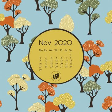 November 2020 free calendar wallpapers & printable planner, illustrated – The Autumnal Trees