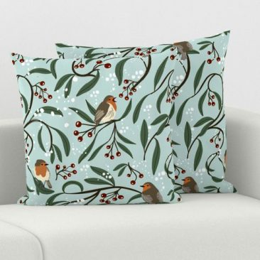 Christmas Robins Pillows