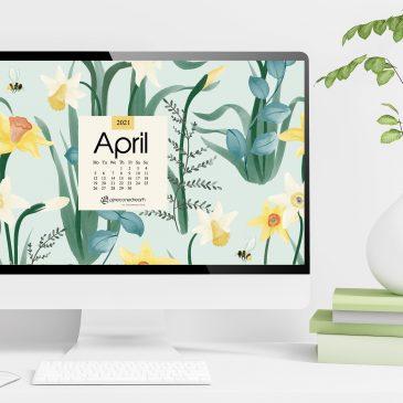 April 2021 free calendar wallpapers & printable planner, illustrated – Daffodil Rumors