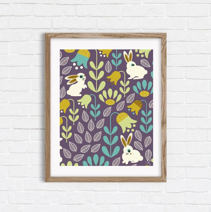 Amid Enchanted Tulips - Shop Art Print