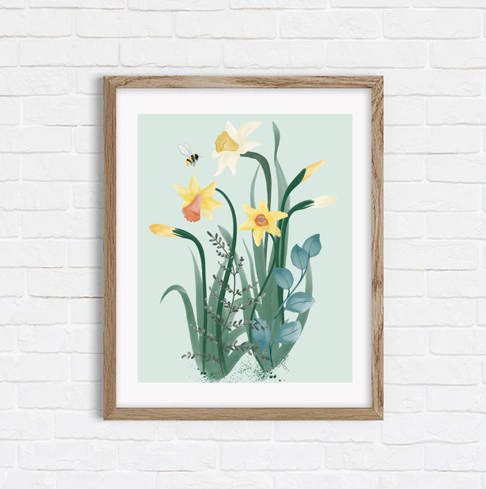 Daffodil Rumors - Shop Art Print