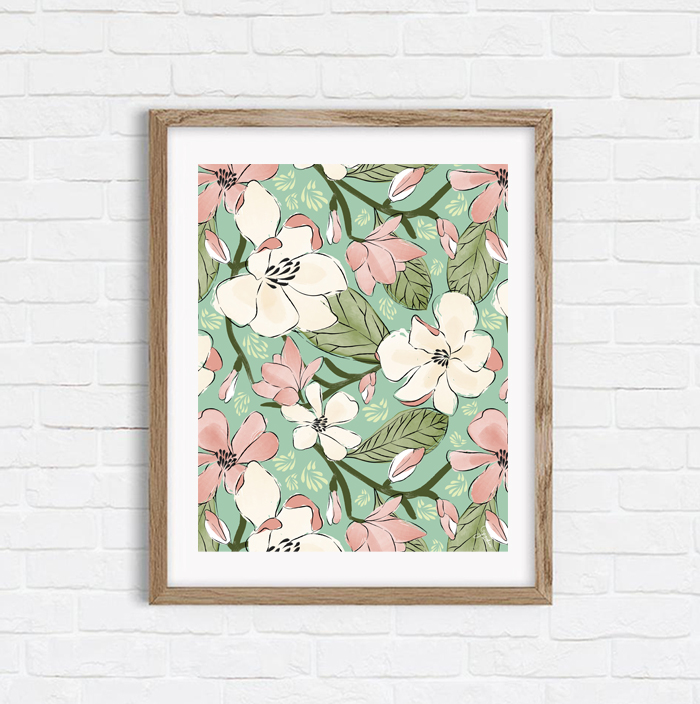 Magnolia Joys - Shop Art Print