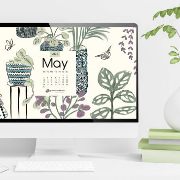May 2021 free calendar wallpapers & printable planner, illustrated – Planters