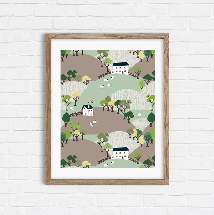 Quiet Hills - Shop Art Print