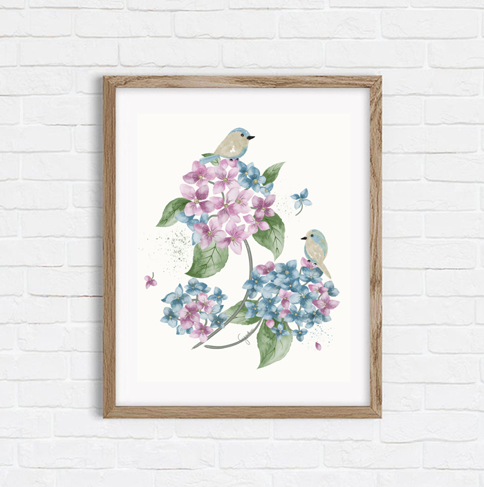 Sweet Hydrangeas - Shop Art Print