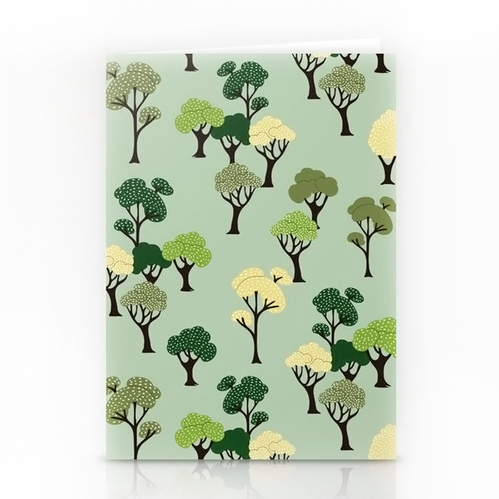 Forest trees greeting card